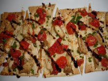 Where codependency meets cooking - Flat Breads with balsamic reduction